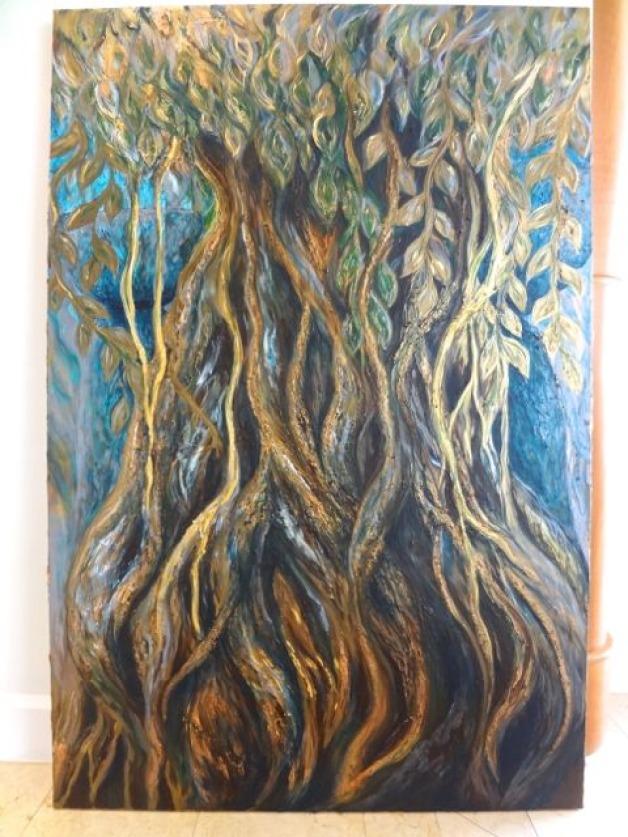 Large Metallic Spirit Tree Commission