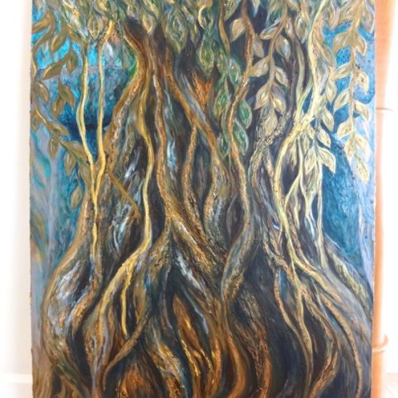 Large Metallic Spirit Tree Commission