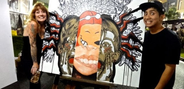 GAX Live Art Night and BBQ Block Party in Tumon