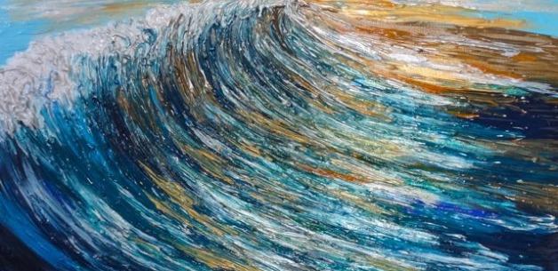 Creation Spotlight: Sunset Wave Painting Start to Finish