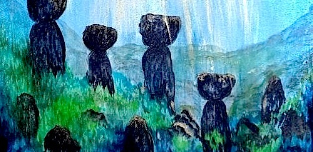 Creation Spotlight ~ Sacred Places Painting