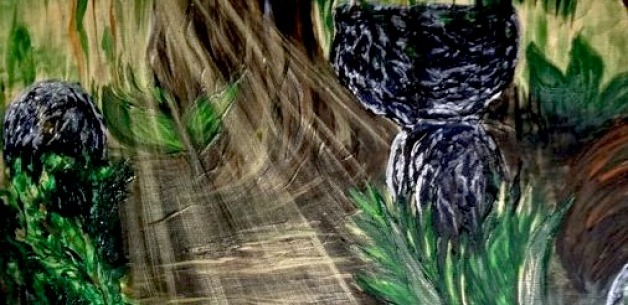 Creation Spotlight: Light in the Jungle Painting