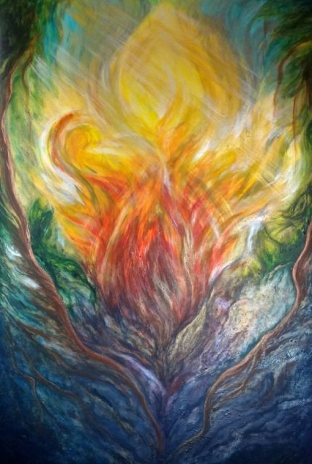 Large Abstract Commission: Infinite Love