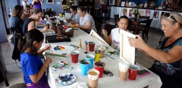 Painting in the New Year: First Creative Session of the Year at Guma Tasa