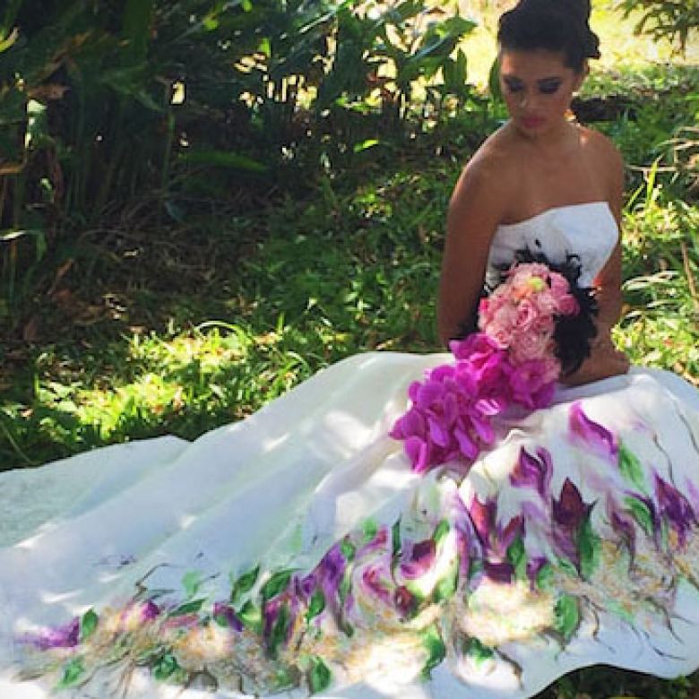2015 Guam PDN Bridal Guide Painted Wedding Dress