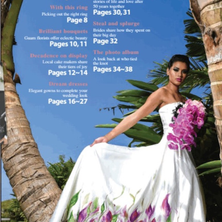 2015 Pacific Daily News Bridal Guide: Painted Dress Photoshoot