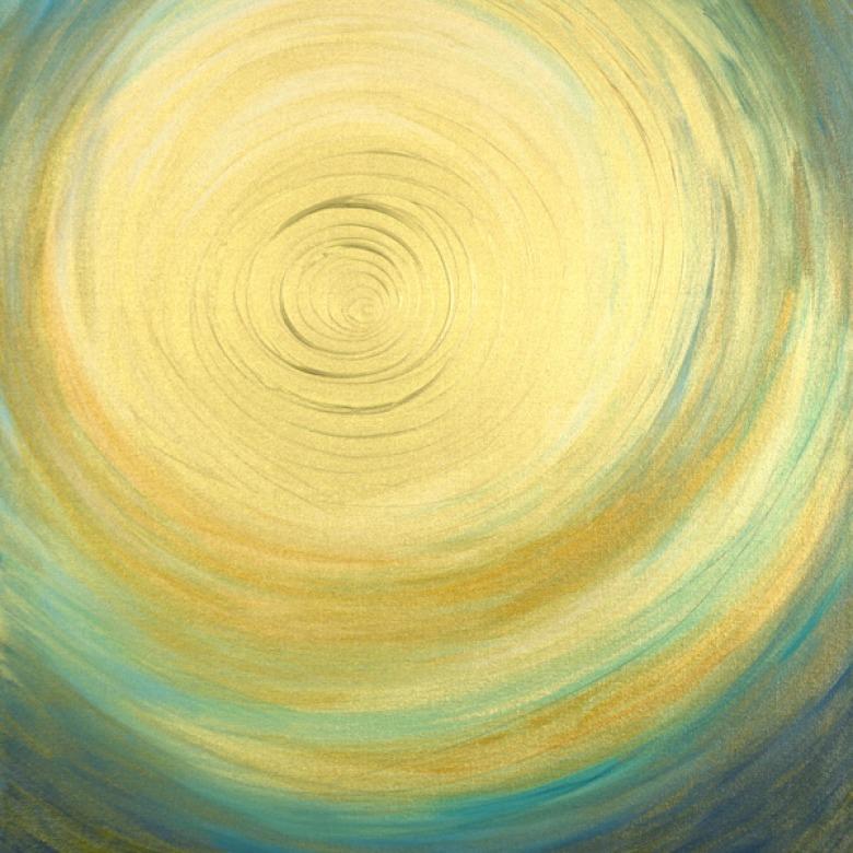 Gold & Blue Spiral