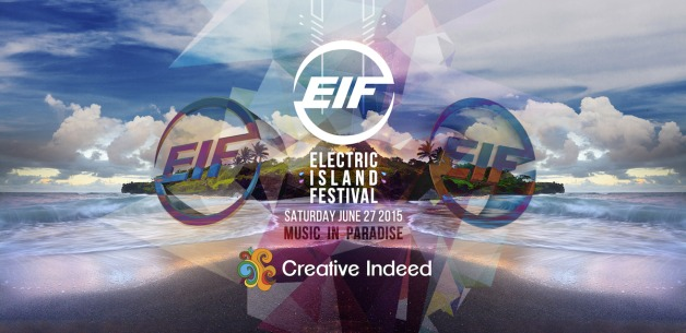 Live Art by Michelle Pier at the 2015 Electric Island Festival in June